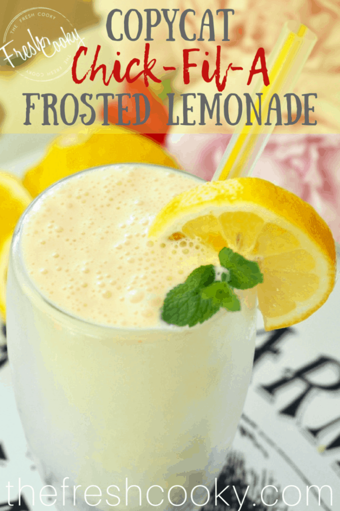 Frosted Lemonade copycat recipe pin | www.thefreshcooky.com
