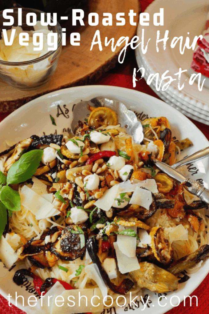 Slow-Roasted Veggie Pasta | www.thefreshcooky.com #roastedveggies #roastedvegetables #vegetarian #whatsfordinner