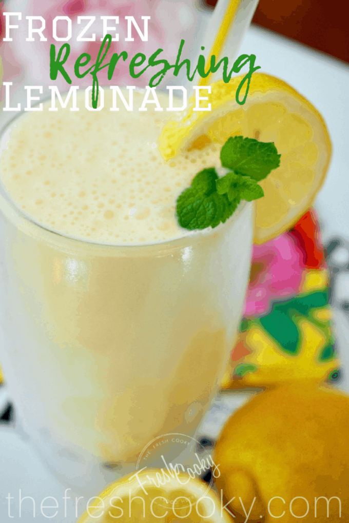 Pin for frozen lemonade | www.thefreshcooky.com