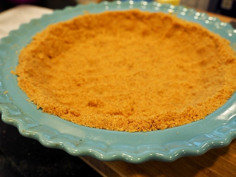 Graham Cracker Crust after baking and cooling