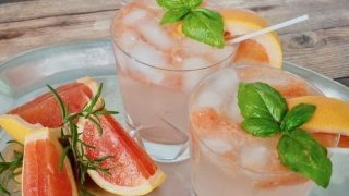 Grapefruit Basil Vodka Smash