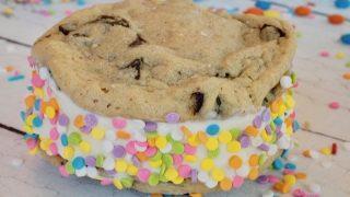 Chocolate Chip Cookie Ice Cream Sandwiches