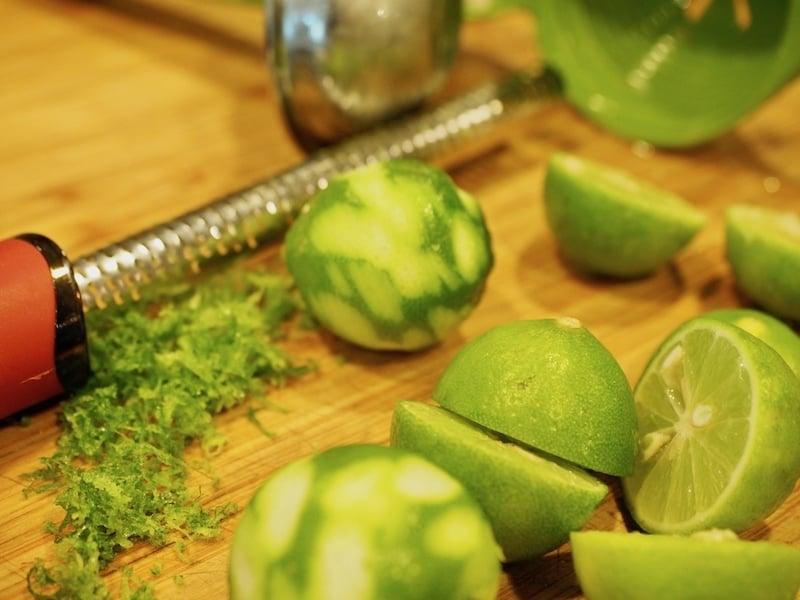zesting limes | www.thefreshcooky.com