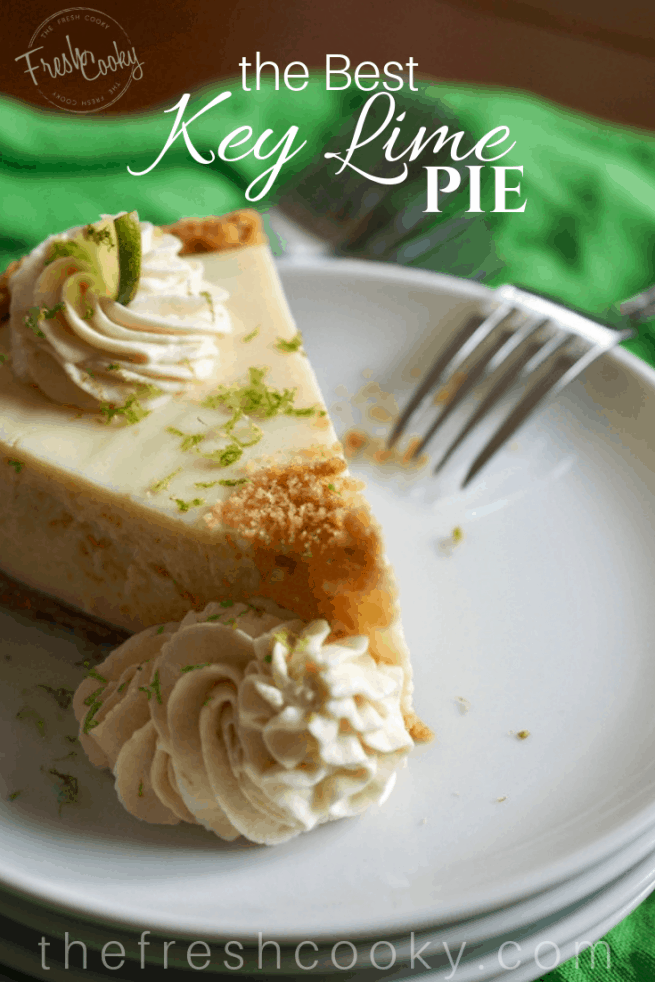 Slice of Key Lime Pie Pin | Www.thefreshcooky.com