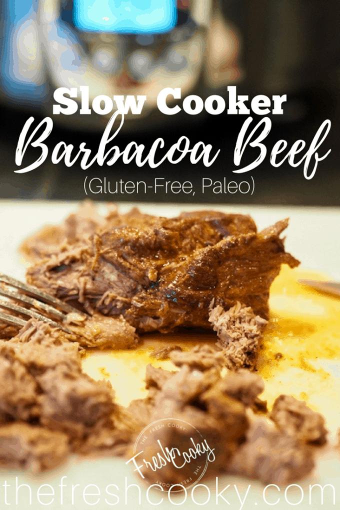 Tender Slow Cooked Barbacoa Beef | www.thefreshcooky.com
