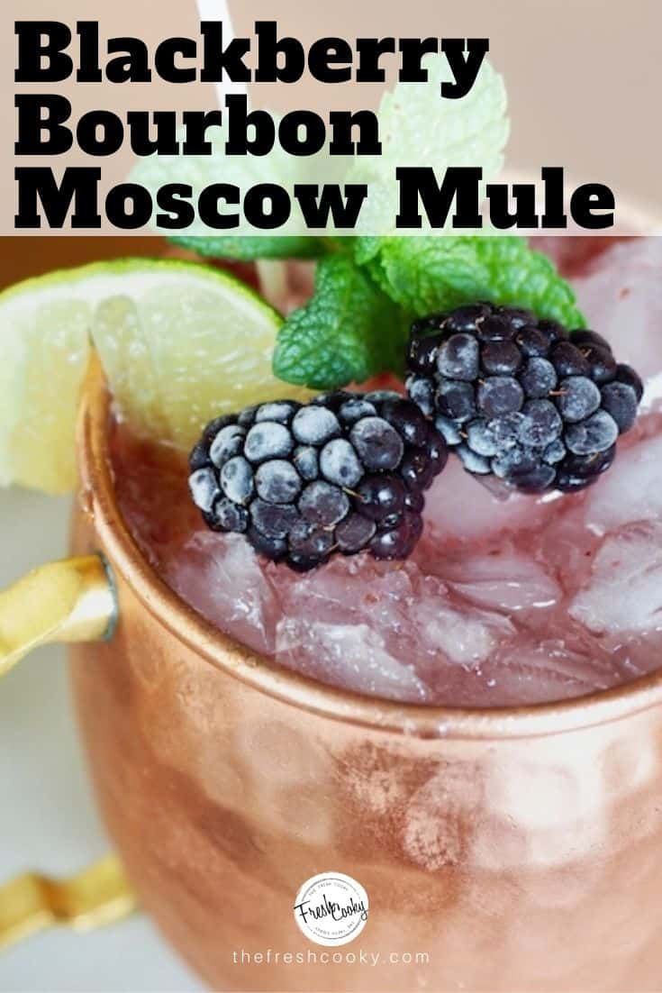 Blackberry Bourbon Moscow Mule (b2m2) is the best! Using fresh (or frozen) blackberries, smoky bourbon, fresh lime and spicy ginger beer.  Omit the bourbon for 