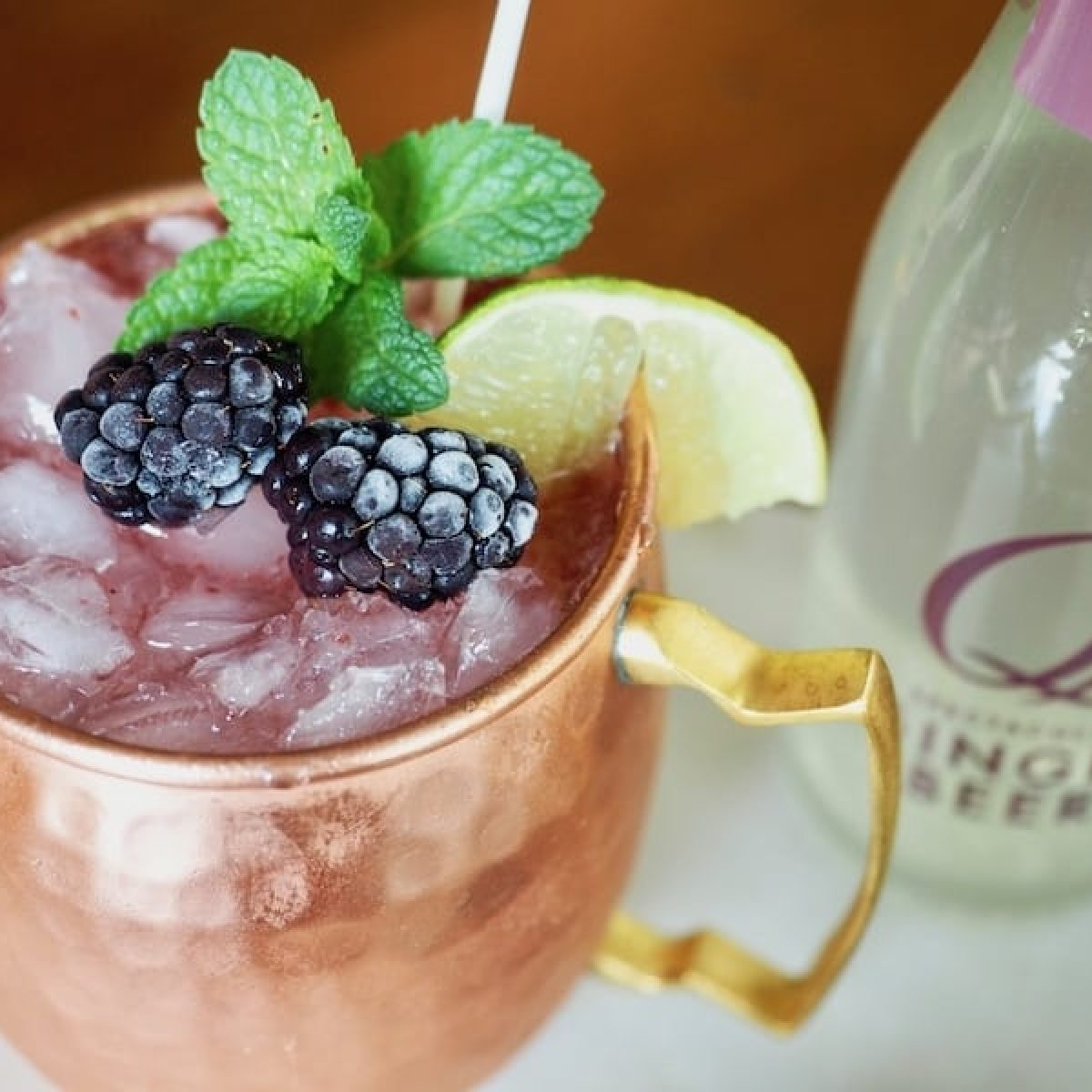 Blackberry Cocktail | A Blackberry Mule