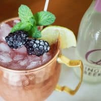 Blackberry Bourbon Moscow Mule