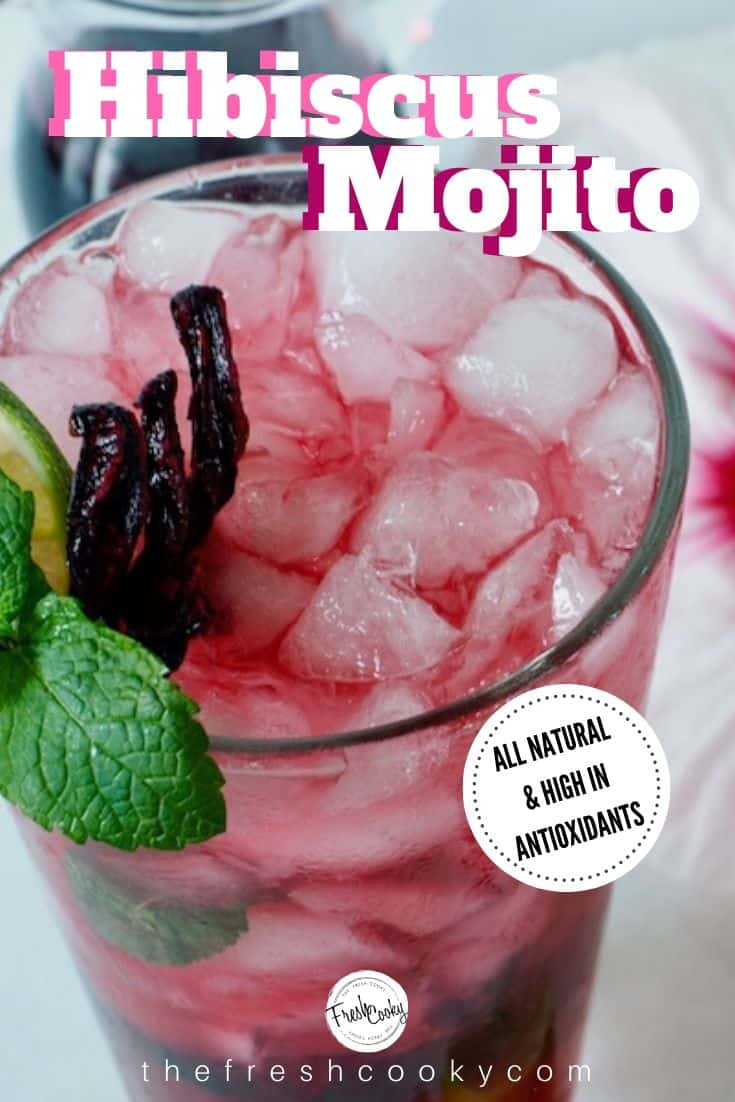 The best Hibiscus Mojito Recipe, tart, fresh, delicious! // thefreshcooky.com // #mojito #mojitorecipes #mojitorecipe #cocktailrecipes #cocktailrecipe via @thefreshcooky