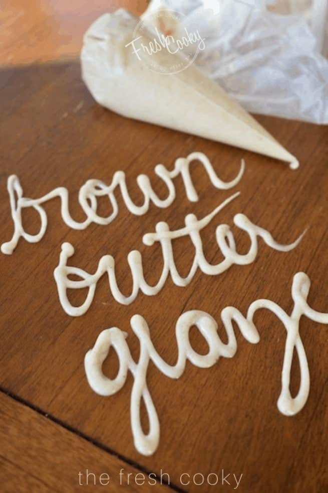 Browned Butter Glaze | www.thefreshcooky.com