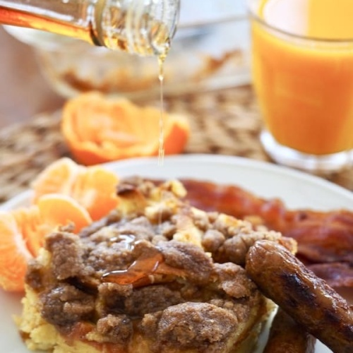 Overnight Cinnamon Crunch French Toast