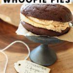 Best fluffernutter whoopie piese pin, pie on mini pedestal.