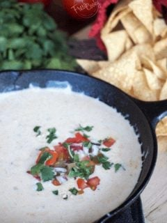 Creamy White Queso Dip | www.thefreshcooky.com
