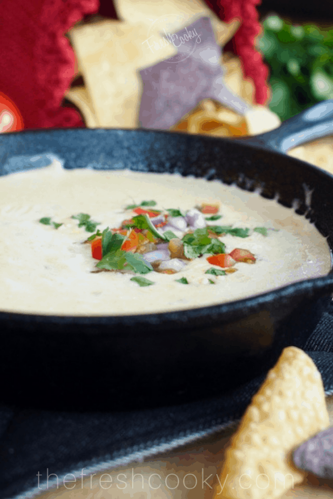 Creamy All Natural White Queso Dip | www.thefreshcooky.com