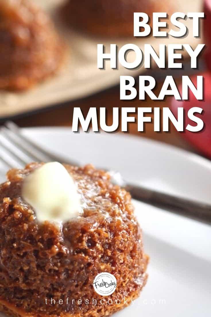 Copycat Mimi's Cafe Honey Bran Muffins are so crazy delicious! Tender, soft, whole grain and sweetened with honey. Recipe via @thefreshcooky | #honeybranmuffins #branmuffins #copycat #mimishoneybranmuffins #wholegrain #easyrecipes #breakfasttreats via @thefreshcooky