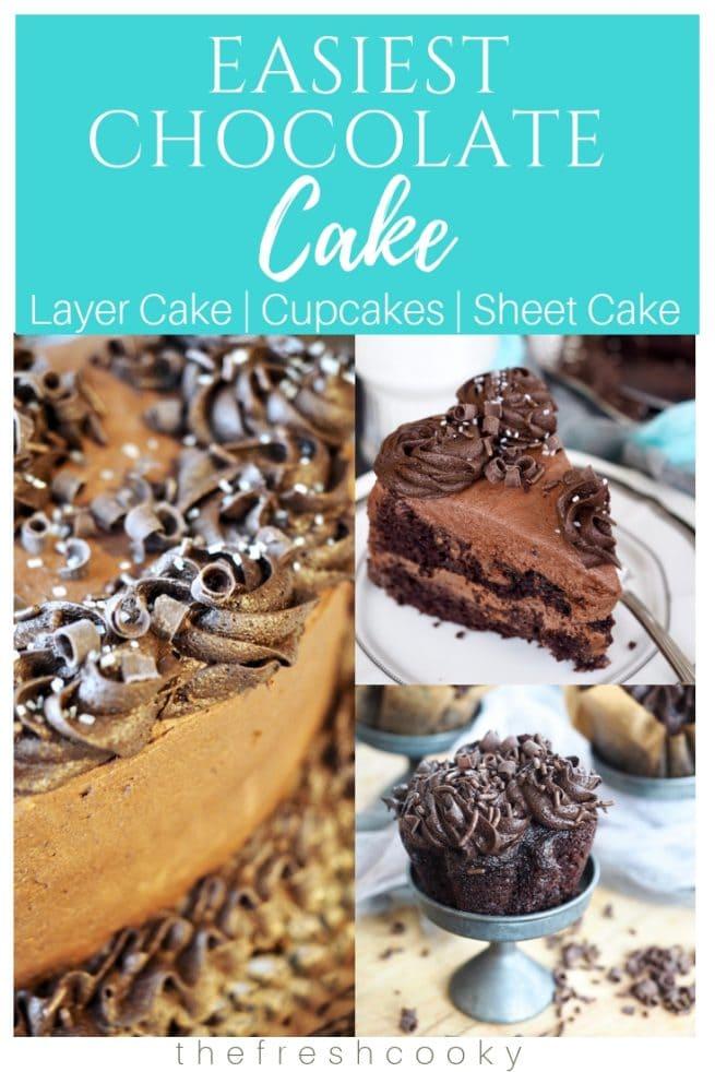 Chocolate Zucchini Cake & Cupcakes | www.thefreshcooky.com