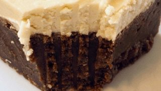 Stout Fudge Brownies (Beer Brownies)with Irish Cream Buttercream