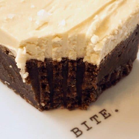 Stout Fudge Brownies (Beer Brownies)with Irish Cream Buttercream