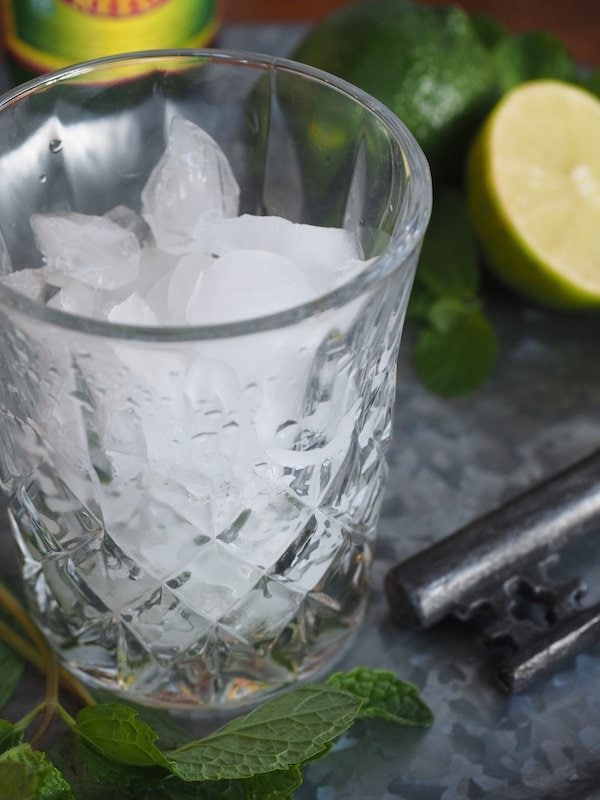 glass of ice for irish mule | www.thefreshcooky.com