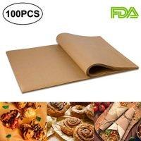100pcs Unbleached Parchment Paper Baking Liners Sheets