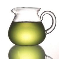 ELITEA Clear Glass Milk Tea Serving Pitcher Cream Pitcher Mug 200ml / 7 fl.oz for Tea