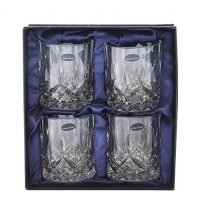 Amlong Crystal Lead Free Double Old Fashioned Crystal Glass