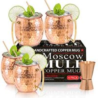 Moscow Mule Copper Mugs - Set of 4-100% HANDCRAFTED