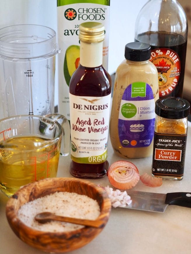 ingredients for maple dijon dressing | www.thefreshcooky.com