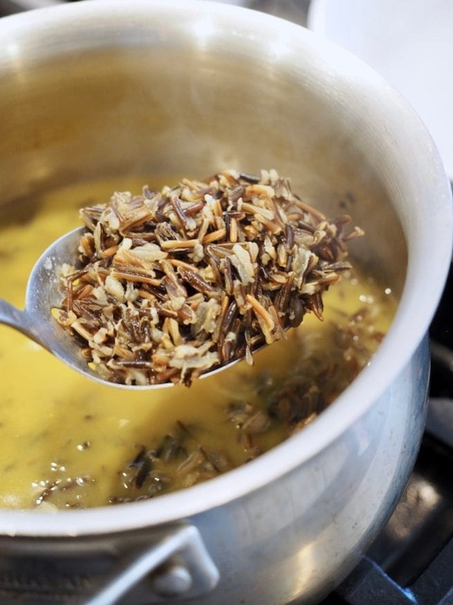 wild rice on slotted spoon | www.thefreshcooky.com