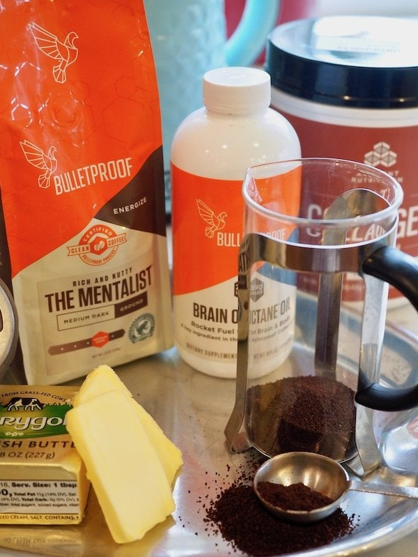 Ingredients for Bulletproof Coffee | www.thefreshcooky.com