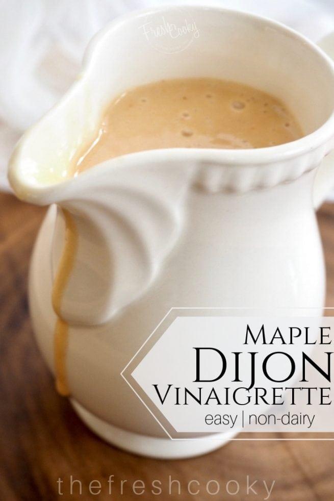 Maple Dijon Vinaigrette | www.thefreshcooky.com