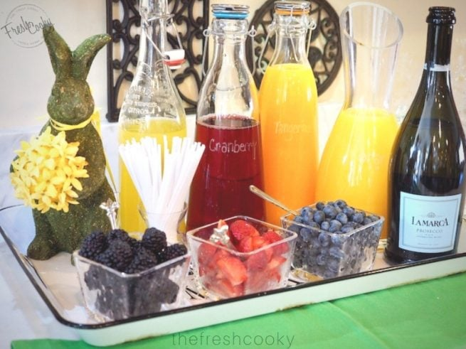 Beautiful Mimosa Bar | www.thefreshcooky.com