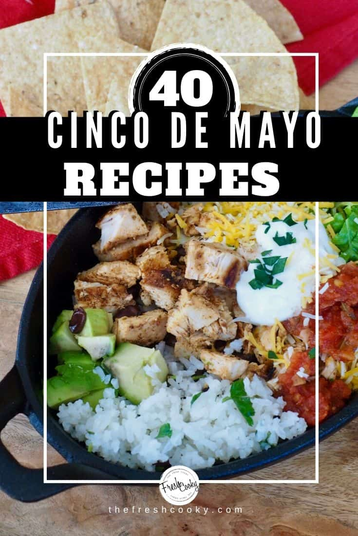 Delicious Easy and Healthy Mexican Cinco de Mayo Recipes for you to try! Recipes via @thefreshcooky | #familyfreshmeals #cincodemayo #mexicanrecipes #mexican #fiesta #recipes #easyrecipe #recipe #dinner #familyfriendly #spanish #drinks #healthy #desserts #easyrecipes via @thefreshcooky