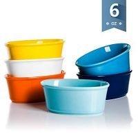 Sweese 5114 Porcelain Souffle Dishes 6 oz, Set of 6
