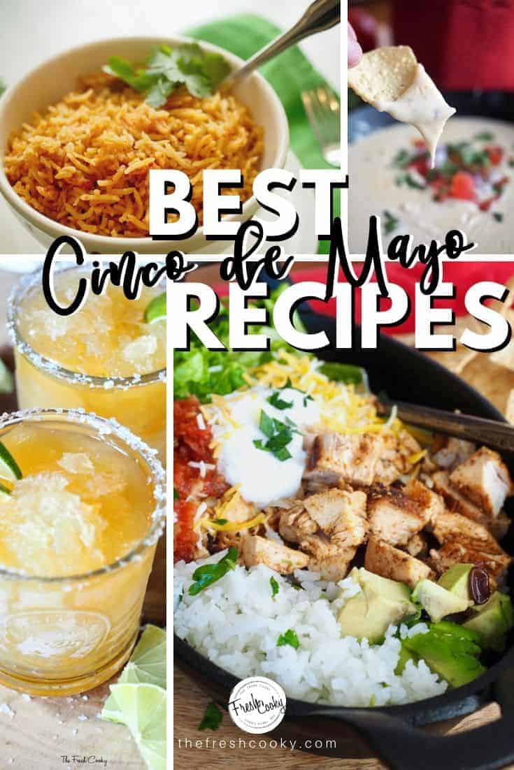Delicious Easy and Healthy Mexican Cinco de Mayo Recipes for you to try!  Simply the best! Recipes via @thefreshcooky | #familyfreshmeals #cincodemayo #mexicanrecipes #mexican #fiesta #recipes #easyrecipe #recipe #dinner #familyfriendly #spanish #drinks #desserts #easyrecipes via @thefreshcooky