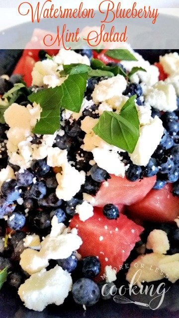 Watermelon Blueberry Mint Salad