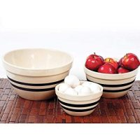 USA-Made Stoneware Shoulder Bowls Large by OHIO STONEWARE
