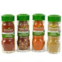 McCormick Gourmet Organic Red Peppers; Cumin Everyday Basics Variety Pack 4 count
