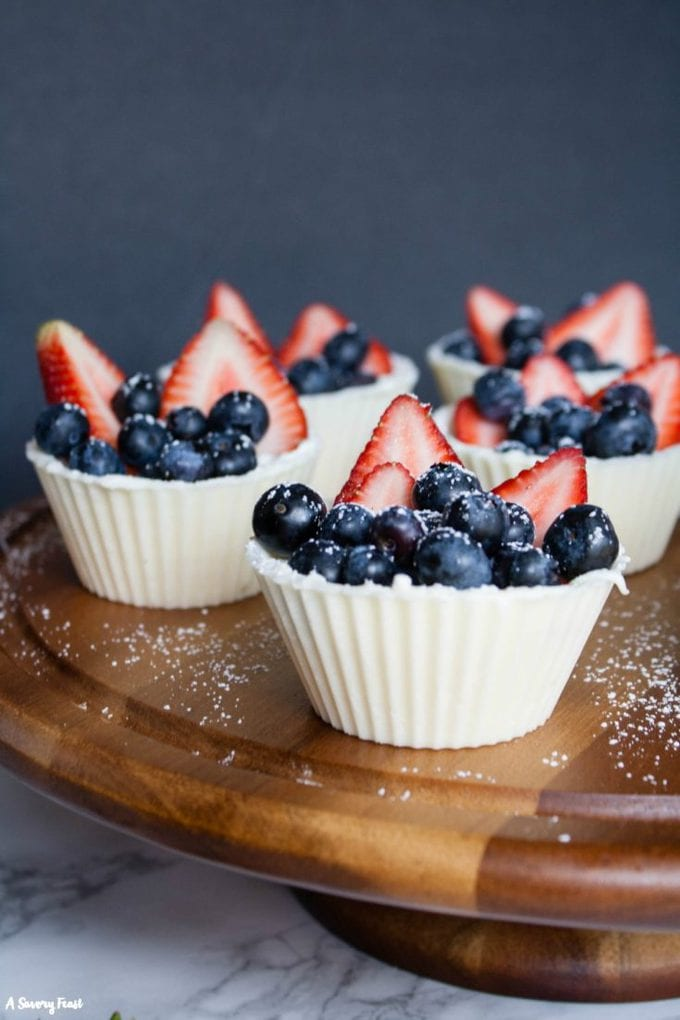 Berry White Chocolate Cups with Mascarpone Cream