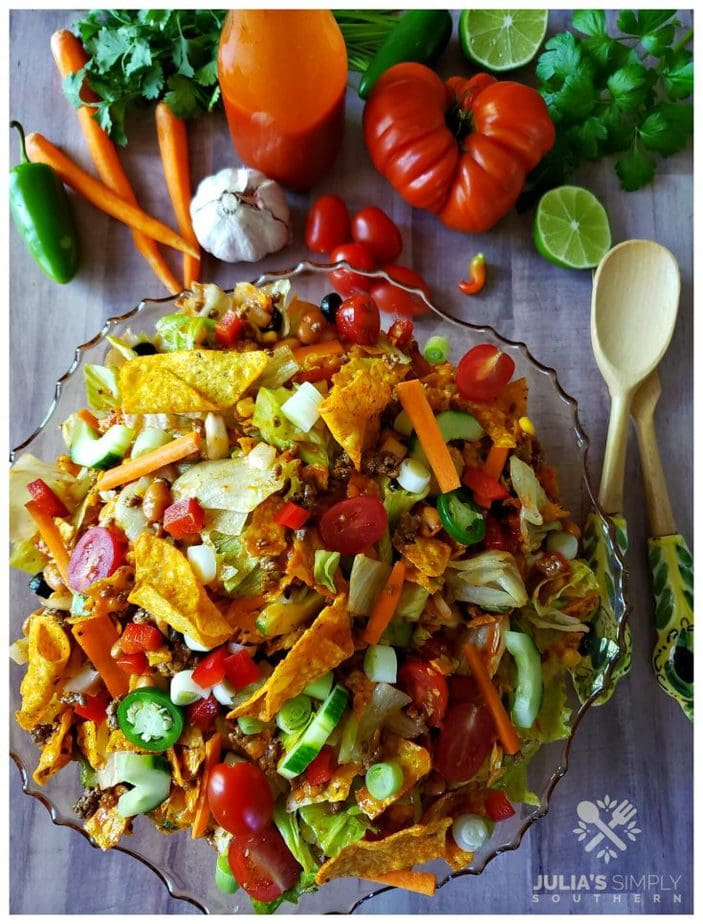 Dorito Taco Salad with Catalina - Julias Simply Southern