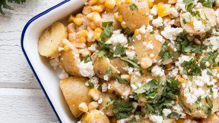 Mexican Street Corn Potato Salad - My Kitchen Love