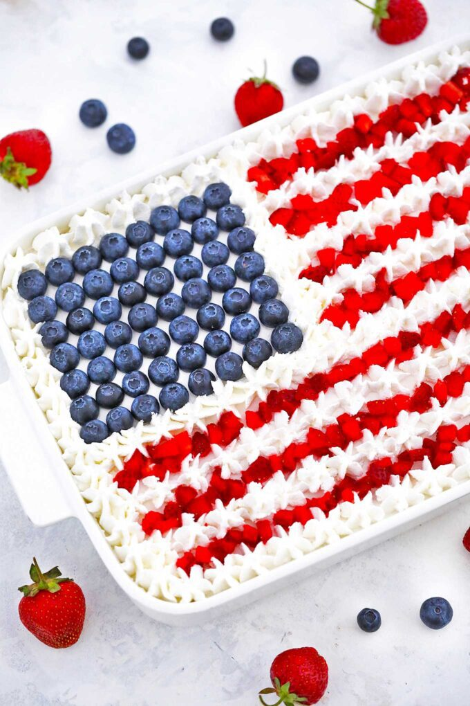 Patriotic Poke Cake Recipe [video]
