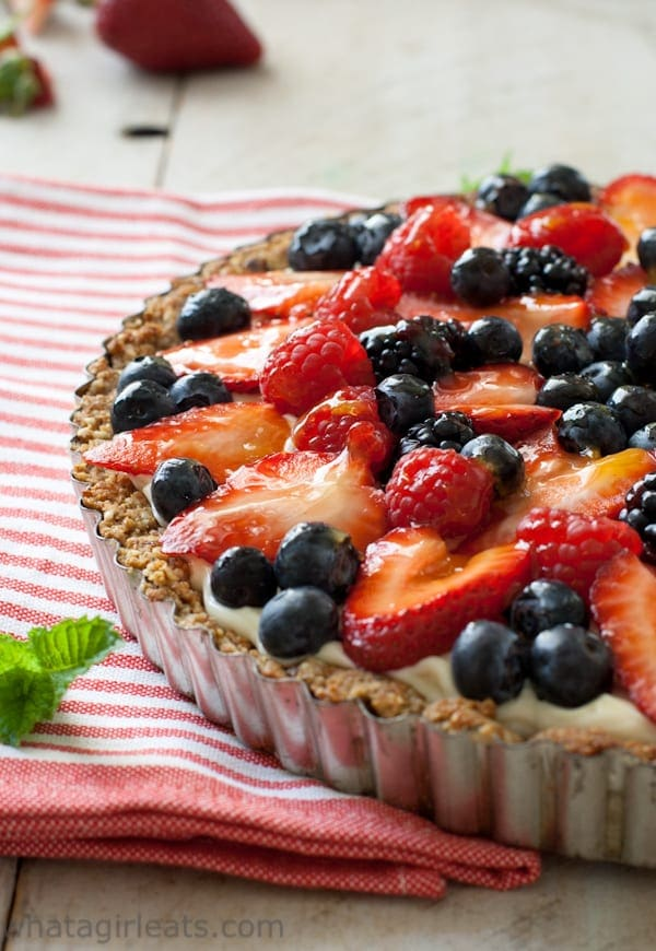 Patriotic Dessert Recipes: Red White and Blue Berry Fruit Tart