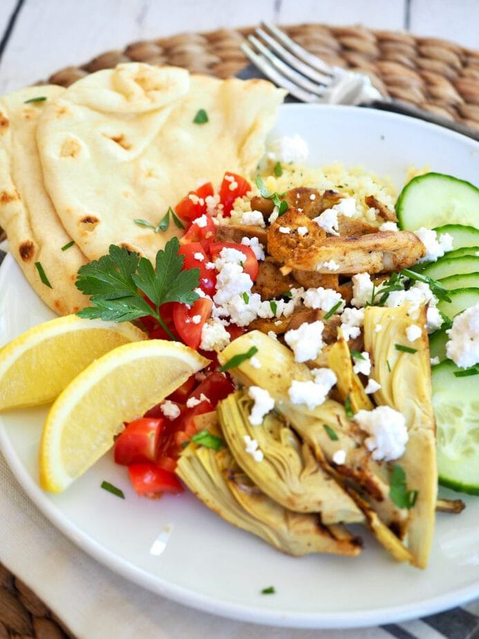 Easy Grilled Chicken Shawarma Bowls