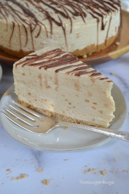 Peanut Butter Pie with a Pretzel Graham Crust ~ two sugar bugs