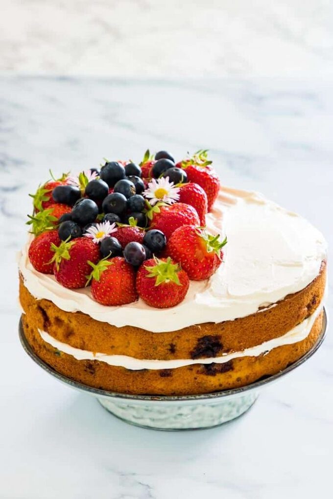Strawberry Blueberry Cake