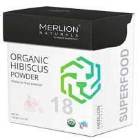 Organic Hibiscus Petals Powder by Merlion Naturals