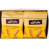 Back to Nature Non-GMO Honey Graham Stick Cookies, 1 Ounce, 8 Count