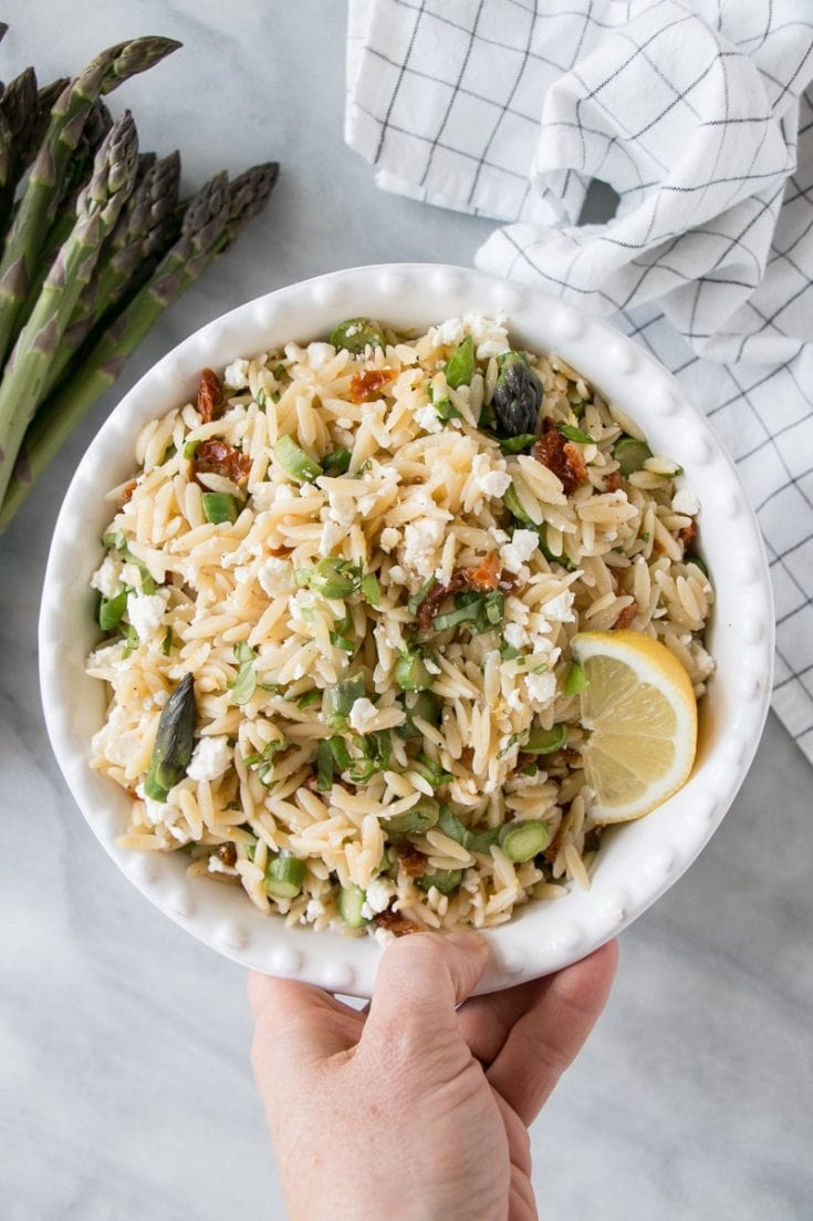 Orzo Pasta Salad with Asparagus - My Kitchen Love