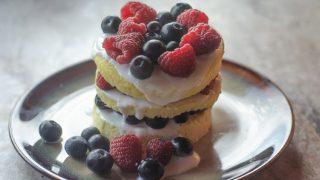 Fourth of July Mug Cake (Keto, Paleo)